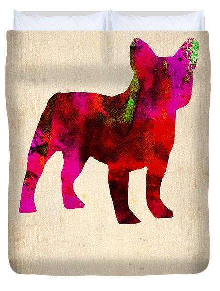 French Bulldog Poster Duvet Cover by Naxart Studio