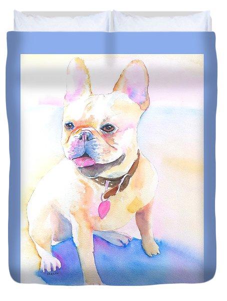 French Bulldog Watercolor Duvet Cover