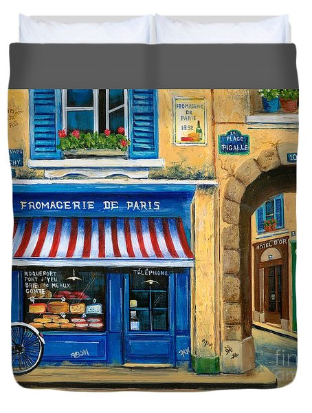 French Cheese Shop Duvet Cover by Marilyn Dunlap