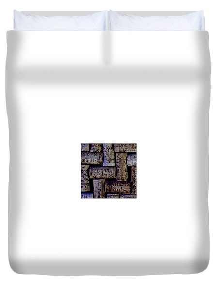 French Corks Duvet Cover by Anthony Jones