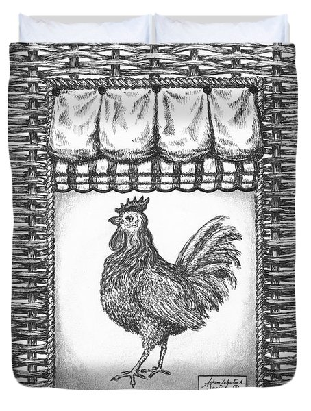 French Country Rooster Duvet Cover by Adam Zebediah Joseph