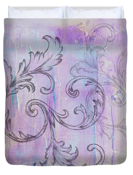 Duvet Cover featuring the painting French Country Scroll by Jocelyn Friis