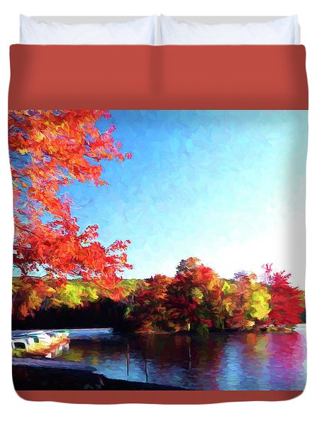 French Creek Fall 020 Duvet Cover