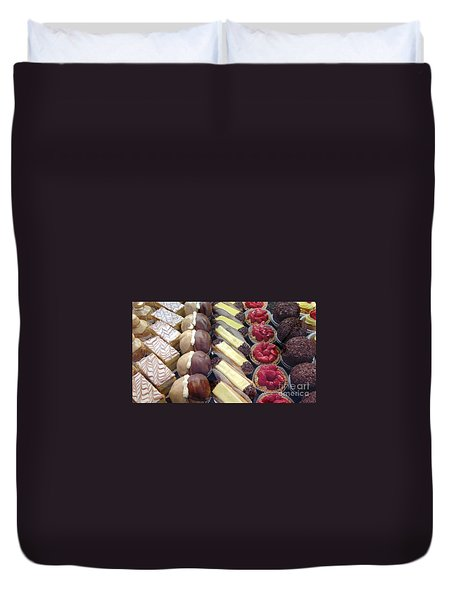 Duvet Cover featuring the photograph French Delights by Therese Alcorn