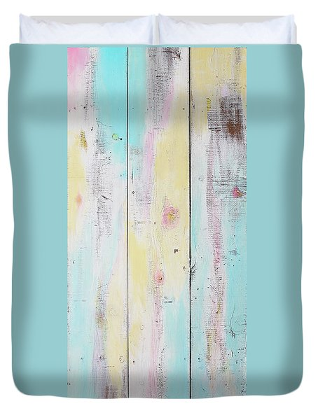French Door In California With Colors Duvet Cover