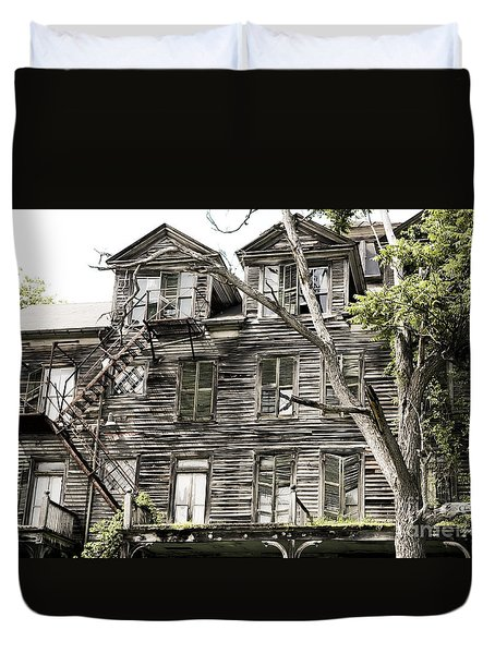 French Doors And Fire Escapes Duvet Cover