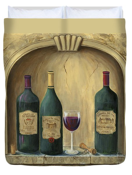French Estate Wine Collection Duvet Cover by Marilyn Dunlap