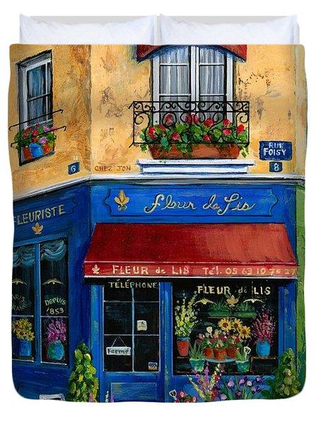 French Flower Shop Duvet Cover