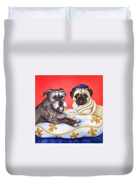 French Friends Duvet Cover