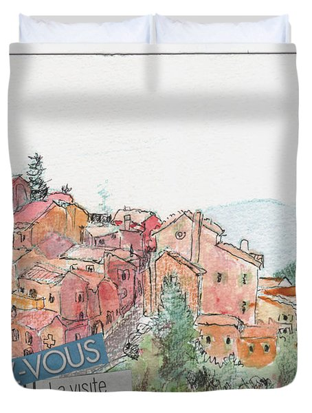 French Hill Top Village Duvet Cover