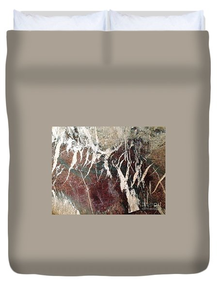 Duvet Cover featuring the photograph French Marble by Therese Alcorn