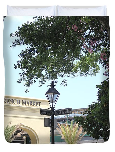 French Market Duvet Cover by Todd A Blanchard