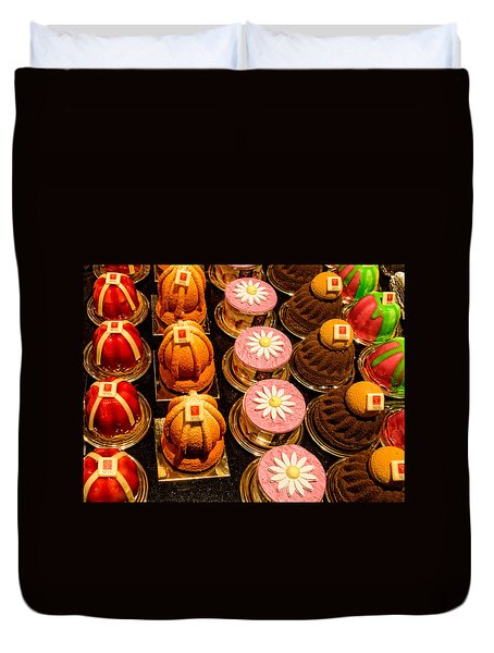 French Pastries In Lyon Duvet Cover