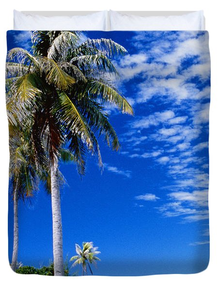 French Polynesia, Beach Duvet Cover by Peter Stone - Printscapes