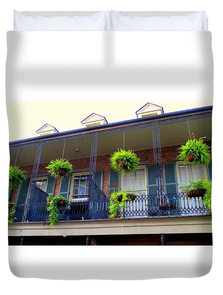 French Quarter Balcony Duvet Cover