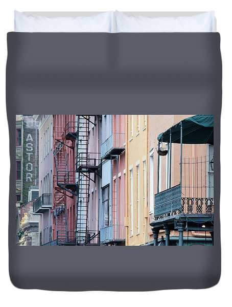 French Quarter Colors Duvet Cover