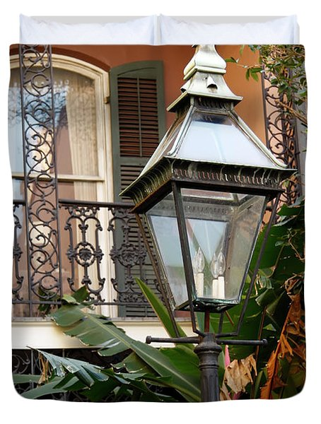 Duvet Cover featuring the photograph French Quarter Courtyard by KG Thienemann