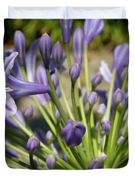 Duvet Cover featuring the photograph French Quarter Floral by KG Thienemann