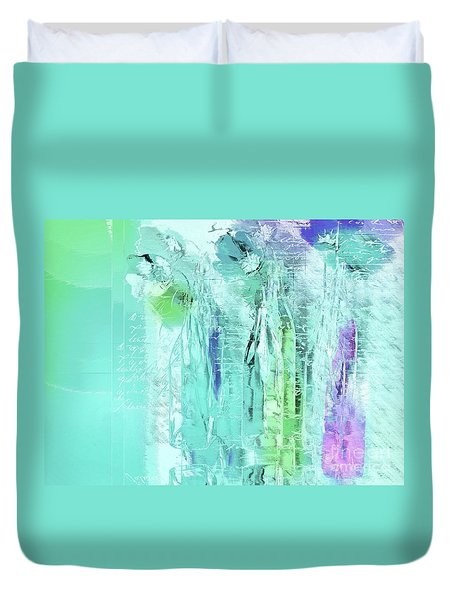 Duvet Cover featuring the digital art French Still Life - 14b by Variance Collections
