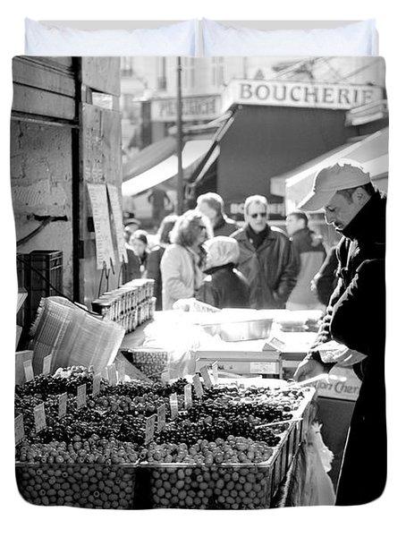 French Street Market Duvet Cover