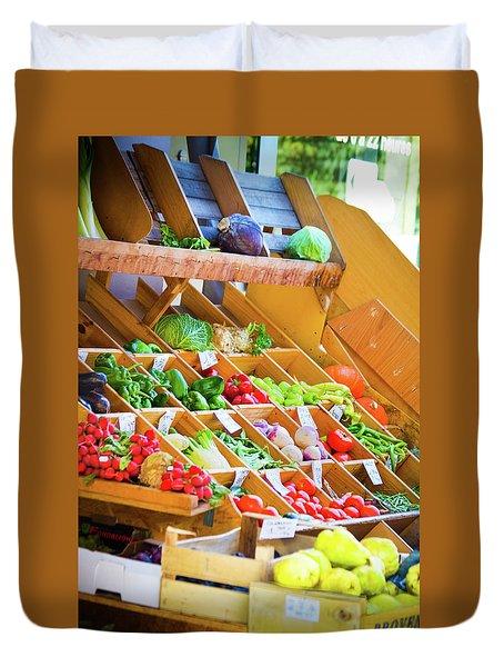 French Vegetable Market 2 Duvet Cover