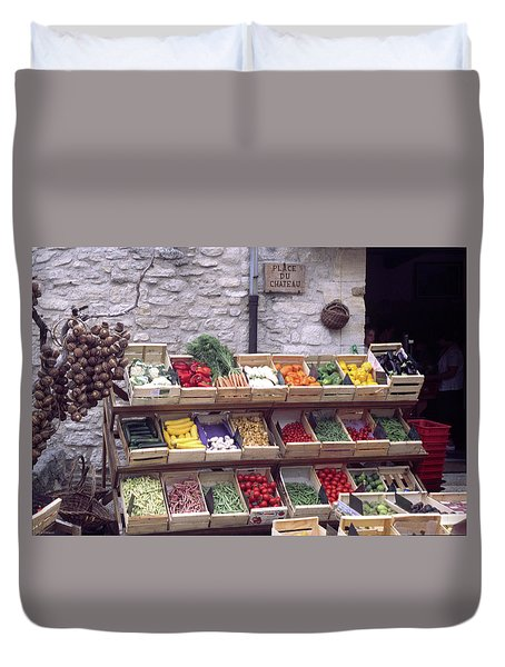 French Vegetable Stand Duvet Cover