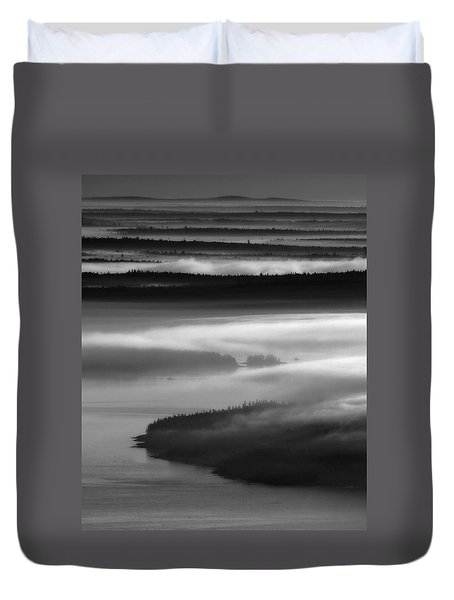 Frenchman's Bay Recursion Duvet Cover
