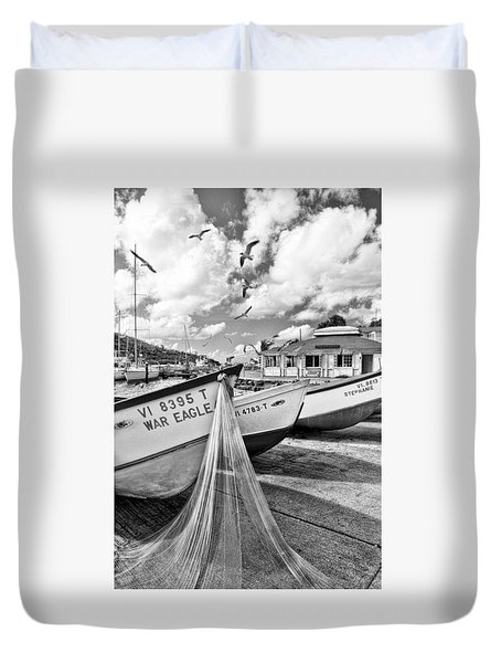 Frenchtown Fishing Boats 1 Duvet Cover