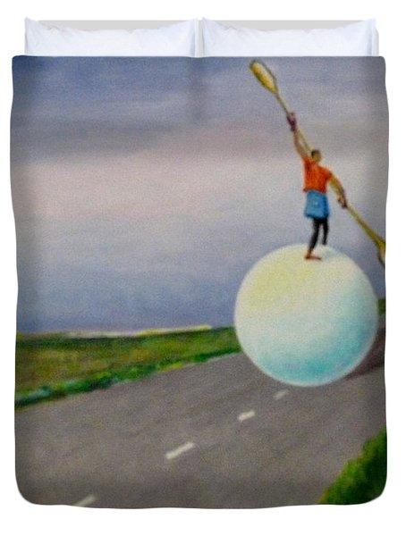 Fresh Air Duvet Cover by Ushangi Kumelashvili