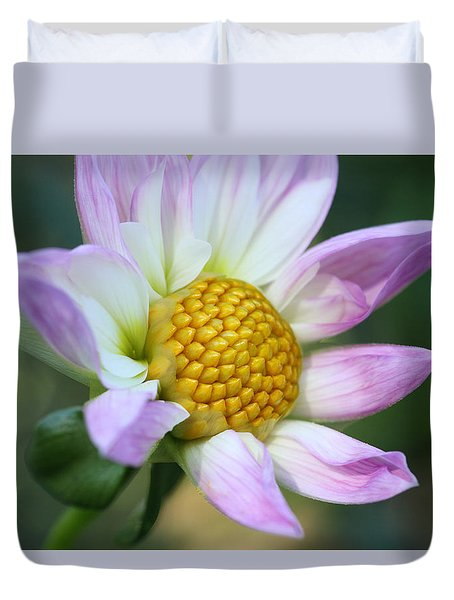 Fresh As A Dahlia Duvet Cover by Connie Handscomb