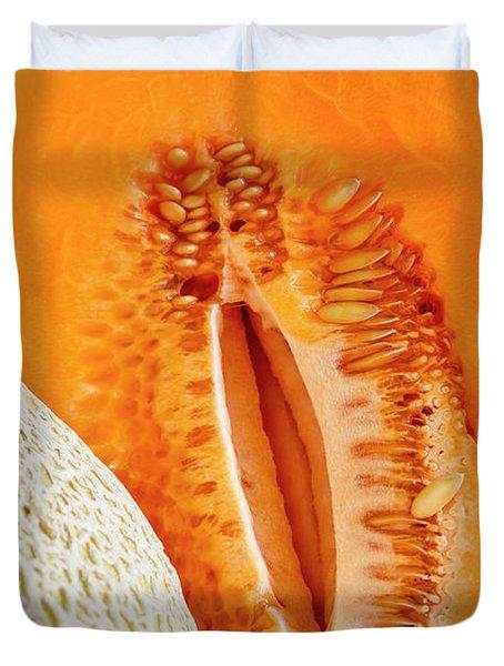 Fresh Cantaloupe Melon Duvet Cover