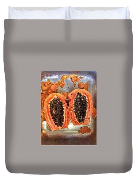 Fresh Cut Papaya Duvet Cover