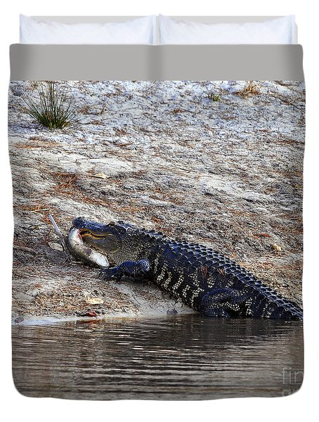 Duvet Cover featuring the photograph Fresh Fish by Al Powell Photography USA