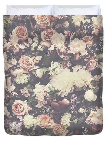 Fresh Flower Pattern Background Duvet Cover