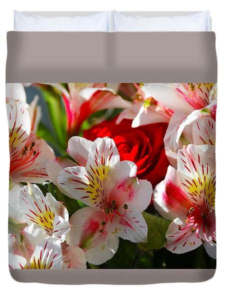 Fresh Flowers Duvet Cover