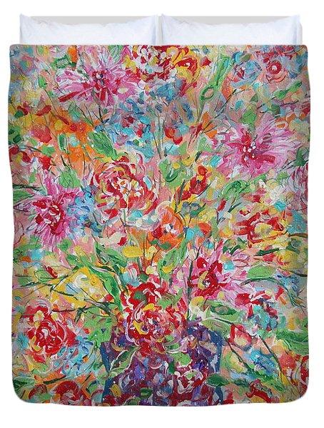 Fresh Flowers. Duvet Cover
