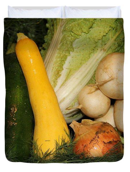 Fresh Garden Produce Duvet Cover