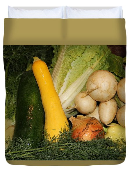 Fresh Garden Produce Duvet Cover