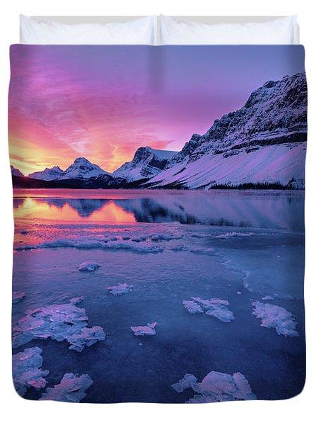 Fresh Ice On Bow Lake Duvet Cover