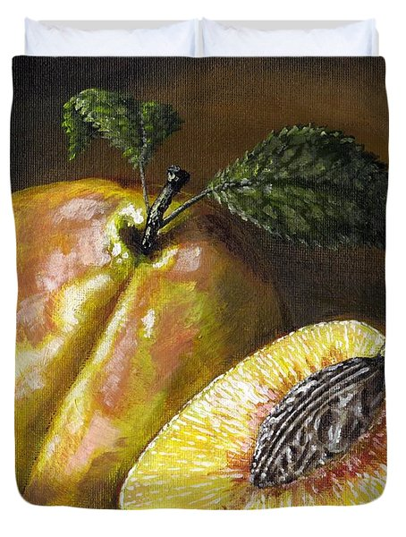 Fresh Peaches Duvet Cover by Adam Zebediah Joseph