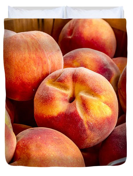 Fresh Peaches Duvet Cover