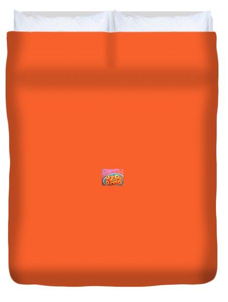 Fresh Persimmons Duvet Cover