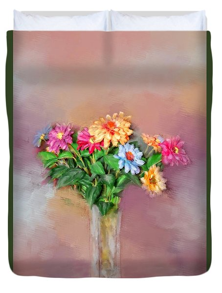 Duvet Cover featuring the photograph Fresh Picked Flowers For You by Mary Timman