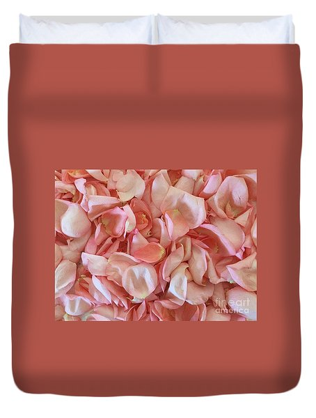 Fresh Rose Petals Duvet Cover