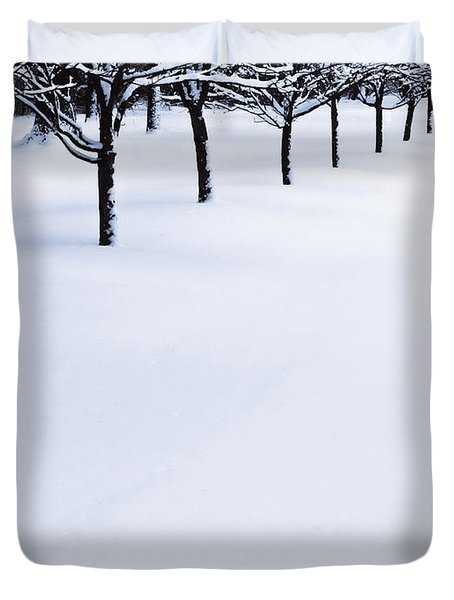 Fresh Snow Duvet Cover by John Hansen