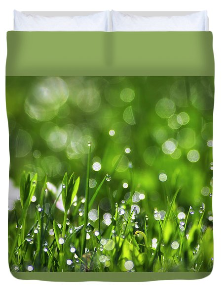 Fresh Spring Morning Dew Duvet Cover by Christina Rollo