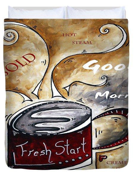 Fresh Start Original Painting Madart Duvet Cover by Megan Duncanson