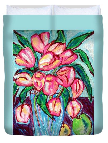 Fresh Tulips Duvet Cover