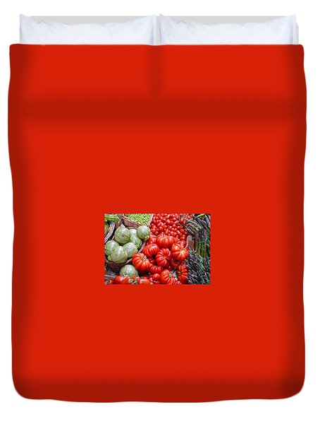 Fresh Vegetables Duvet Cover