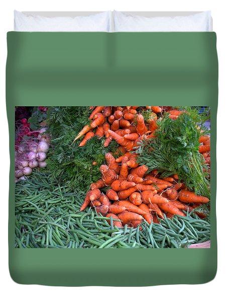 Fresh Veggies Duvet Cover